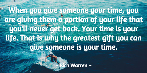 rick warren quote time